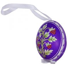 measure pysanky | Home » Raspberries on Purple Eastern European Egg Ornament ~ Handmade ...