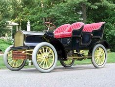 1904 Buick Touring car...with the pink upholstery possibly the first Mary Kay car.....