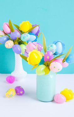 déco originale pour la fête de Pâques avec des oeufs