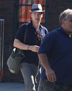 Benedict Cumberbatch arrives on the set of Black Mass in Boston, Massachusetts on June 17, 2014.