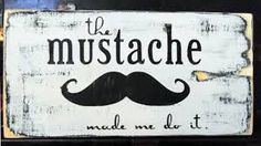 mustache decor - Google Search