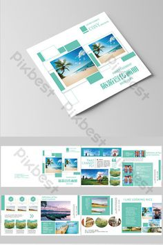 Simple and style tourism brochure#pikbest#templates Brochure Format, Brochure Design, Brochure Template, Sign Design, Layout Design, Cartoon Paper, Tourism Day, Nature Posters, Simple Backgrounds