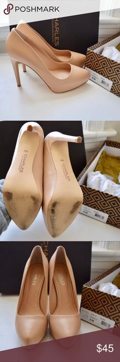 Charles by Charles David platform heels beige sz 8 Excellent condition beige Charles by Charles David platform heels size 8. Worn ONCE! Only signs of wear are on bottom. Toes and heels are in pristine condition. Comes with original box. Charles David Shoes Platforms