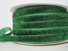 Craft supplies and Handmade Tassels by ichimylove Glitter Ribbon, Green Glitter, Bulk Ribbon, How To Make Headbands, Purse Handles, Green Ribbon, Fun Projects, Special Day, Decorative Pillows