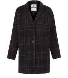 Black Check Boyfriend Coat