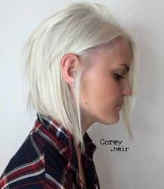 Silver Blonde Bob For Thin Hair
