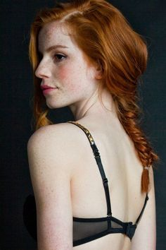 Pale plump redhead