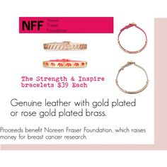 """""""NFF"""" by annielhansen on Polyvore How To Raise Money, Rose Gold Plates, Or Rose, Breast Cancer, Foundation, Thoughts, Personalized Items, Polyvore, Leather"""