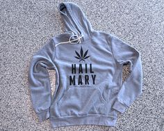 Hail Mary Weed Ultra Comfy Hooded Sweatshirt by WildYouthTees Weed THC Dope Leaf 420 Glass Pipe Bowl Hoodie