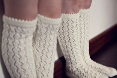 Children accessories - knitted lace socks. Fits for 3 - 4 year old toddler girl. READY TO SHIP. $25.00, via Etsy.