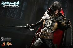 Captain Harlock 1/6 action figure. Product available in October 2014.