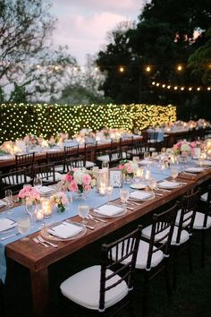outdoor wedding: so tasteful