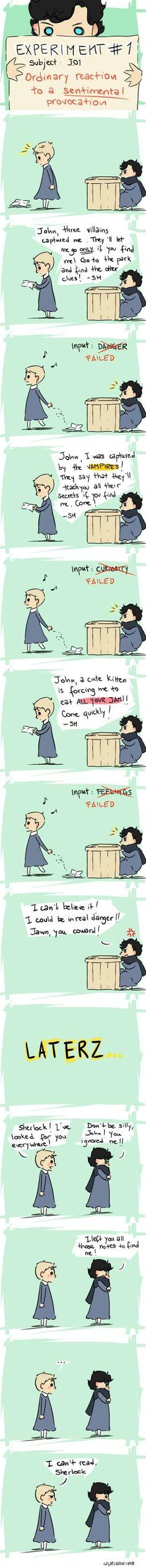 I can't read, Sherlock