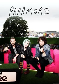 Jeremy Davis, Hayley Williams and Taylor York ||| Paramore