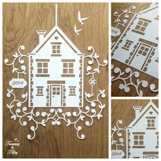 DIY Papercut New Home Design Template - with PERMISSION TO SELL FINISHED CUTS    Whether papercutting is your hobby or your business this