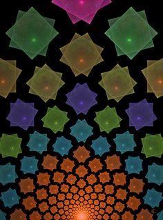 Geometric Fractal Art. #Fractals