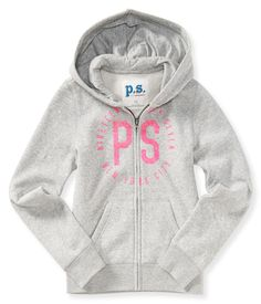 Kids' Sparkle PS Zip-Front Hoodie - PS From Aeropostale
