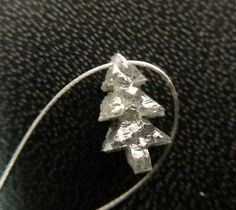 1 Pc 7.5mm Grey Rough Diamond Christmas Tree Grey by gemsforjewels
