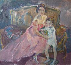 LeoPutz(Meran 1869 - 1940 Meran) Die Familie des Künstlers Öl auf Leinwand 50 x 55 cm Originalzustand & -rahmen Vgl. WVZ-Nr. 1953