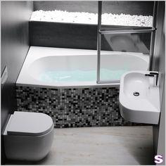 Raumspar-Badewanne Polo - SEBASTIAN e.K. – Verspielt. –  Eine schiefe Wanne?! Ja, denn dadurch haben Sie mehr Platz. Für kleine Bäder #design #badewanne