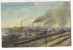 Edgar Thompson Plant, Carnegie Steel Company Factory BRADDOCK PA Railroad PC