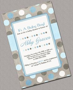 Baby shower invitations - boys