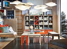 ikea expedit regal schubladen aufbewahrung 25 orange Bureau Design, Diy Bureau, Ikea Regal Expedit, Briana Banks, Structure And Function, Living Room Remodel, Affordable Furniture, Color Change, Home Furniture