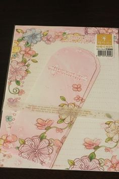 Kawaii Letter Set - Pink Flowers