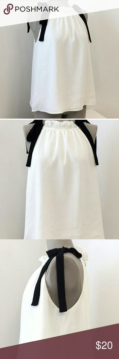 English Factory White Black Tunnel Straps NWOT Great flattering flowy top. New never worn. Urban Outfitters Tops