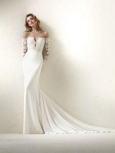Rochie de mireasă cu fustă simplă stil sirenă – Dracma