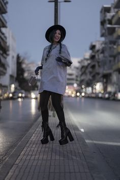 #fedorahat #tshirtdress #tulledress #layering #tallshoes #lamodashoes #layexgloves Fedora Hat, Tulle Dress, Layering, Photo And Video, Outfits, Instagram, Fashion, Tulle Gown, Moda