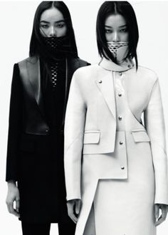 #BlackAndWhite #Leather Goodness by Alexander Wang Autum 2012 ~ #MeAndMyGirlfriends