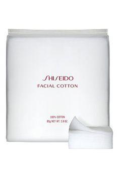 Shiseido facial cotton pads. The best.