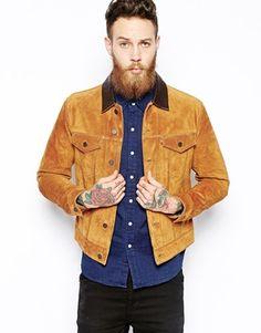 Enlarge Levi's Suede Jacket Slim Fit Trucker