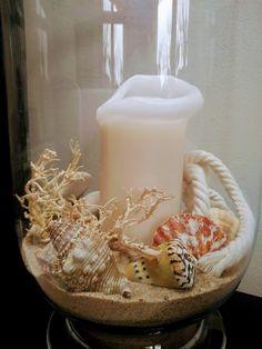 #interiors #candles #sea #decoration #shells #beach