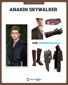 The best costume guide for dressing up like the young Jedi, Anakin Skywalker, who is played by Hayden Christensen in Revenge of the Sith. Padme Costume, Jedi Costume, Got Costumes, Star Wars Costumes, Diy Halloween Costumes, Costume Ideas, Halloween 2020, Cosplay Diy, Carnival