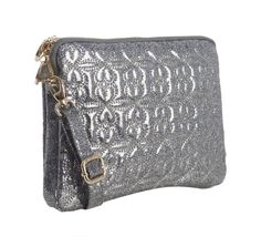 silver sweetheart stitched ipad sleeve