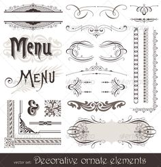Ornate Design Elements & Calligraphic Page Decor $3.00
