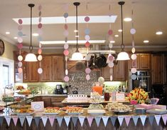 Seriously Daisies: Pink & Gray Baby Shower {Food & Drinks Bar} but make it in blue and grey