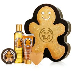 Enjoy the spicy, special-edition scent of ginger from top to toe with this pampering box set. Packaged in a reusable tin shaped like a ginge...