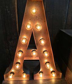 Metal Letter Lights