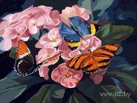 Картина по номерам `Бабочки на цветах` (400х500 мм)