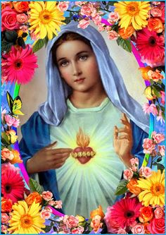 Prayers and pictures of the blessed mother of Jesus Mother Mary Images, Images Of Mary, Blessed Mother Mary, Blessed Virgin Mary, Religious Pictures, Religious Art, Isis Goddess, Goddess Lakshmi, Hail Holy Queen