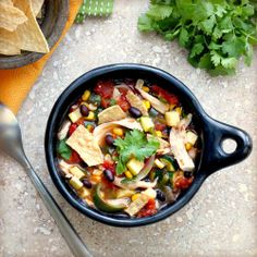 Harvest Chicken Tortilla Soup by tastefood #Soup #Chicken_Tortilla