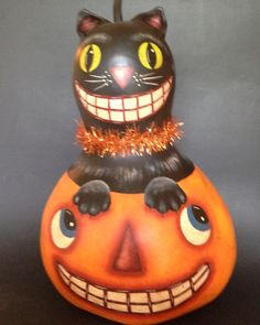 Blk cat in jack by Kim Gladfelter