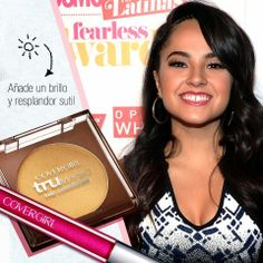 Singer Becky G wears COVERGIRL #instaGLAM cosmetics to the the Cosmopolitan for Latinas Fun Fearless Awards 2014 in New York City!