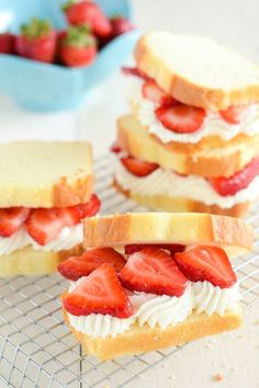 Satisfy your sweet tooth with this delicious and creative take on strawberry shortcake that makes a perfect sandwich for parties or afternoon tea.