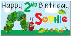 The Very Hungry Caterpillar Birthday Banner Personalized Party Decoration Backdrop *** More info could be found at the image url.