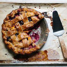Grain-Free Boysenberry Peach Pie