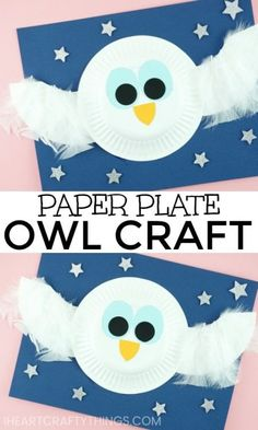The story inspired us to make The Little White Owl Craft made simple with paper plates. Fun book inspired preschool craft and paper plate crafts. Kindergarten Crafts, Daycare Crafts, Preschool Art, Polar Animals Preschool Crafts, Kindergarten Centers, Animal Crafts For Kids, Winter Crafts For Kids, Craft Activities For Kids, Craft Ideas